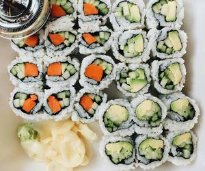 sushi, food, and fitness image