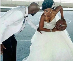 basket-ball, fashion, and mariage image