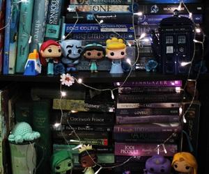 books, disney, and fairy lights image