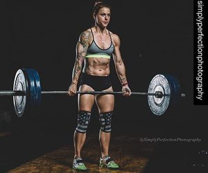 athlete, female, and lifting image