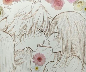 anime, flowers, and pocky image