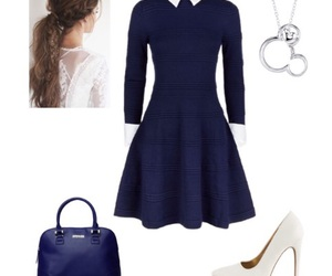 bag, blue, and dress image