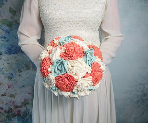 bouquet, beach wedding, and solaflowers image