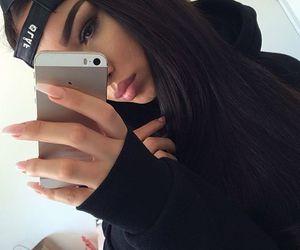 nails, iphone, and makeup image