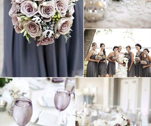 colors, wedding, and lilac gray image