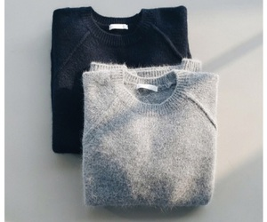 sweater, fashion, and black image
