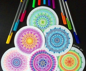 cool, drawing, and mandala image