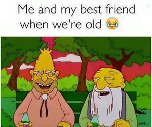 funny, old, and simpsons image