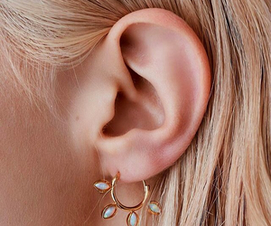 blond, ear, and earring image