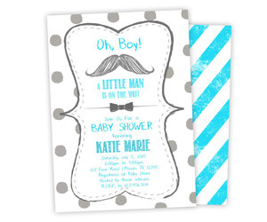 etsy, baby shower invite, and blue and grey image