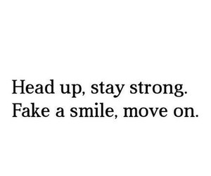 quote, smile, and move on image