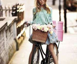 bike, clemence poesy, and polka dots image