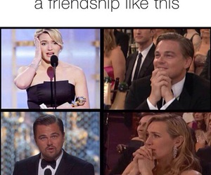 friendship, kate winslet, and leonardo dicaprio image