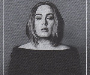 Adele, black and white, and diva image