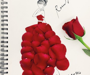 drawing and rose image
