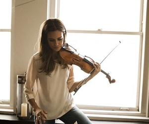 music, violin, and woman image