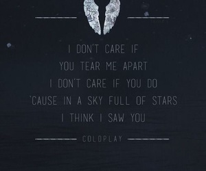 coldplay, stars, and Lyrics image