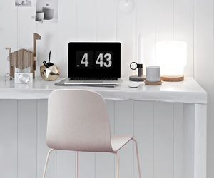 desk, gray, and home image