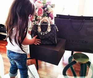 Louis Vuitton, baby, and luxury image