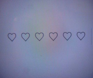 grunge, heart, and hearts image