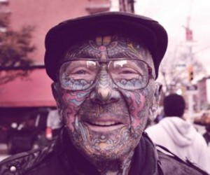 tattoo, old, and man image