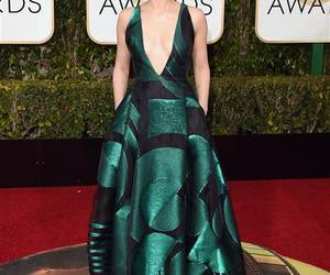 golden globes and dress image