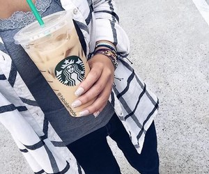 starbucks, coffee, and adidas image
