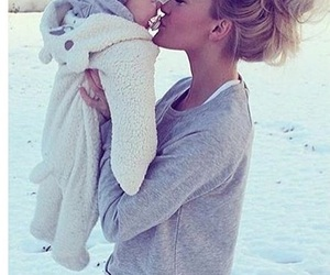 baby, girl, and blonde image