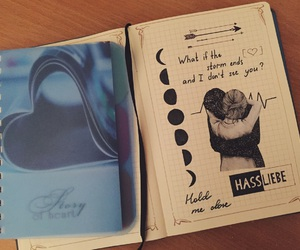 art, black, and diary image