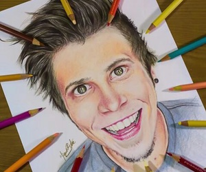 drawing, youtube, and rubius image