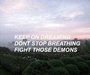 quote, demons, and Lyrics image