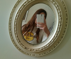 girl, mirror, and white image