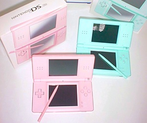 pink, game, and ds image