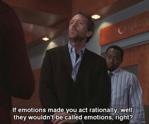 dr house and emotions image