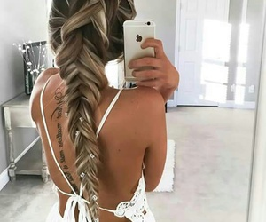 hairstyle, romance, and open back image