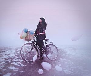 balloon, bicycle, and bike image