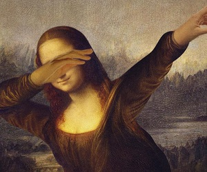 dab, monalisa, and mona lisa image