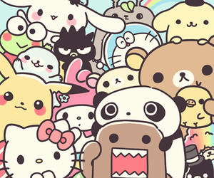 kawaii, pikachu, and hello kitty image