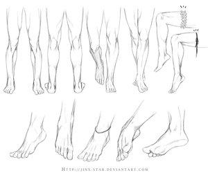 feet, legs, and art image