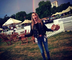 rainbow, model, and cara delevingne image