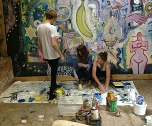 art, grunge, and friends image