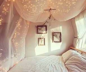 bed, romantic, and bedroom image