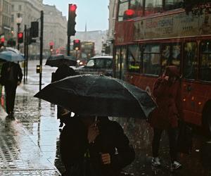 rain, london, and photography image