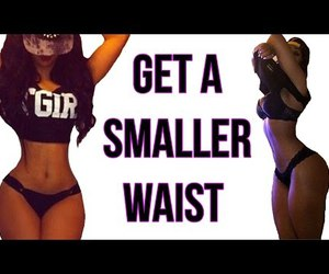 video, workout, and small waist image
