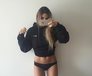 nike, girl, and body image