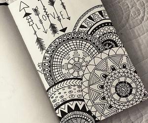 drawing, art, and mandala image