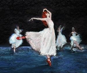 art, pointe, and ballerina image