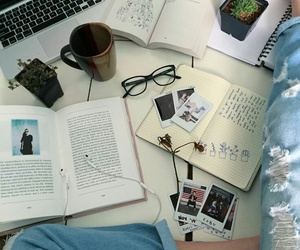 book, tumblr, and coffee image