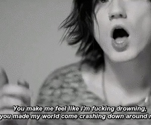music, asking alexandria, and the black image
