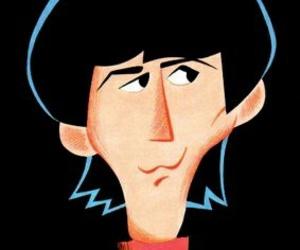 george harrison and the beatles cartoon image